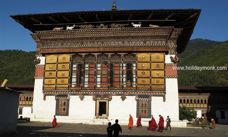 Buddhist-Prayer-Wheels-Downtown-Thimphu-Bhutan