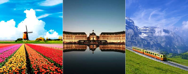 Paris-Amsterdam-Switzerland-Tour-Package