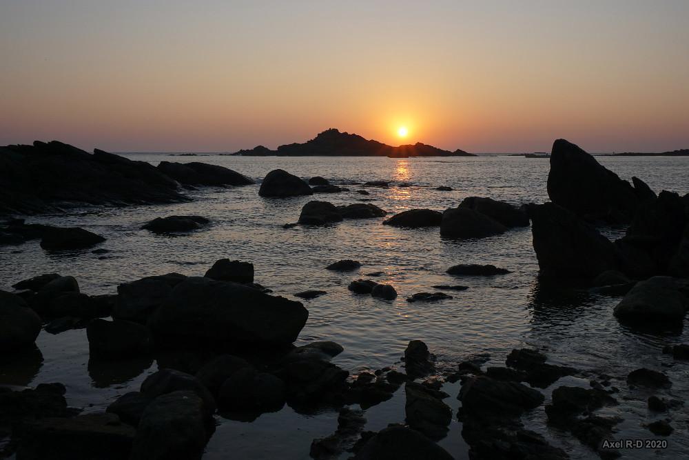 Sunset near Om beach, Gokarna